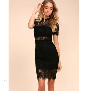 Lulu's Remarkable black lace dress NWT